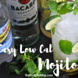 A low cal mojito recipe is a cocktail that can be enjoyed all year long and adds a fun twist to St. Patrick's Day fun as well!