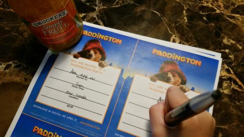 Paddington Movie Night Invitations