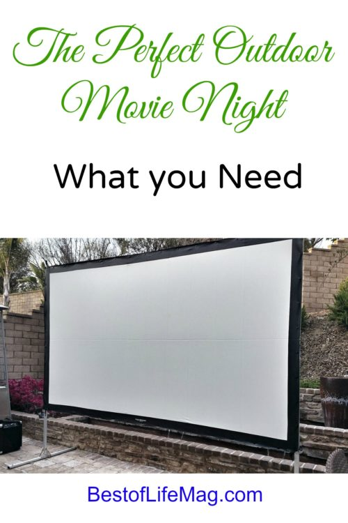 What you Need for the Perfect Outdoor Movie Night