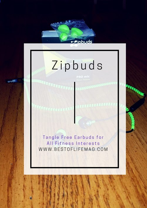 Zipbuds Tangle Free Earbuds for All Fitness Interests