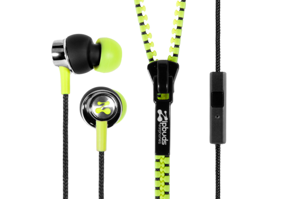 Zipbuds Tangle Free Earbuds