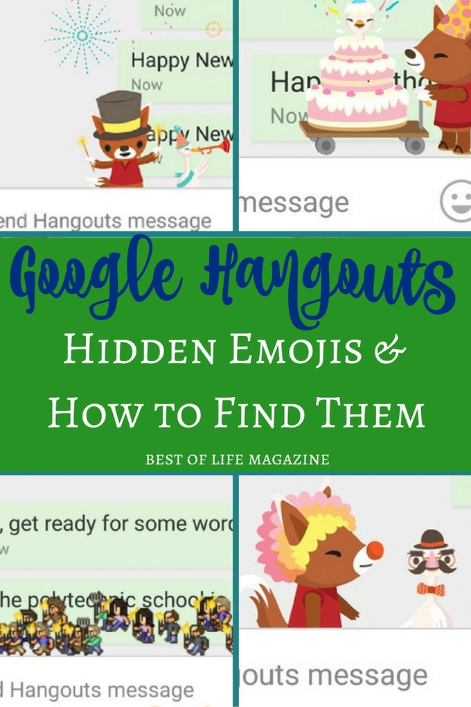 Want to have some fun with Google Hangout? Check out these hidden emoji that you can find with one word or phrase inside Hangouts. via @amybarseghian