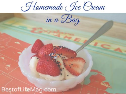 How to Make Homemade Ice Cream in a Bag (That's Low Fat too!)