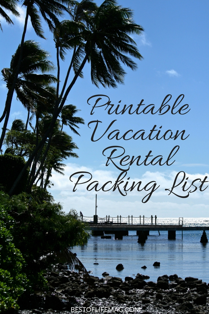 Don't leave anything behind with this printable vacation rental packing list - it's perfect for your trip and helps keep everything organized.  via @amybarseghian