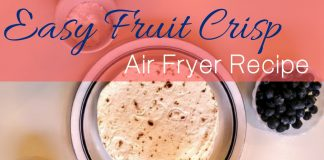 This easy fruit crisp taco recipe was made in our Avalon Bay Air Fryer and is infused with fruit and a patriotic twist making it a natural choice for 4th of July!