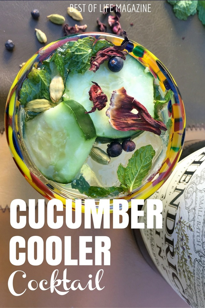 A cucumber cooler with gin is refreshing and perfect for warmer days but sometimes you don't have time to muddle as much. This quick version is perfect!
