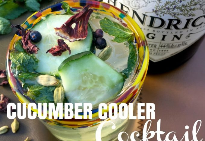 This quick and easy cucumber cooler cocktail is PERFECT, especially when time and ingredients are limited.