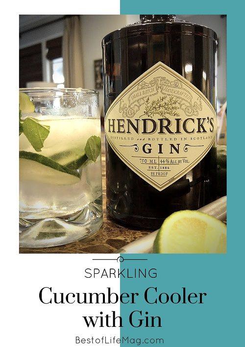 Gin Cocktails: Sparkling Cucumber Cooler