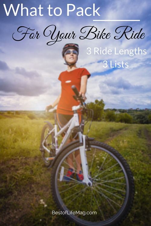 What to Pack for your Bike Ride - 3 Ride Lists