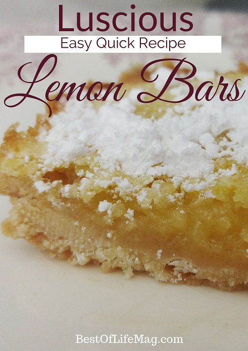 This luscious lemon bar recipe is perfect for a warm summer day or a light and refreshing dessert any other time of the year. via @amybarseghian
