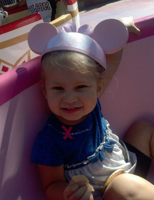 Makayla in a Tecup Disneyland Vacation