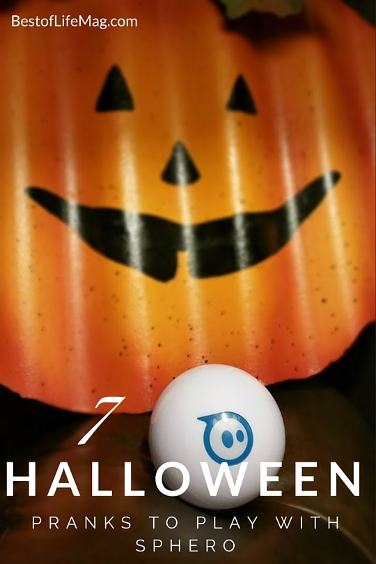 Looking for fun and unique Halloween pranks? Weave in technology for some spooky tech fun with help from Sphero! Halloween Pranks | Halloween Party Ideas | Halloween Ideas for Kids | Party Pranks | Things to do with Sphero via @amybarseghian