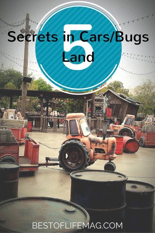 Disney California Adventure Secrets in Cars Land and Bugs Land