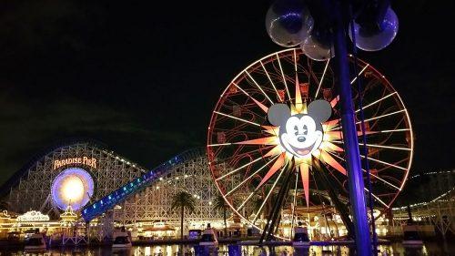 Disney California Adventure Secrets in Paradise Pier Ferris Wheel at Night