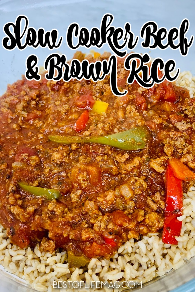 It is easier than ever to spice things up with the right crockpot dinner recipes like this easy slow cooker beef and brown rice recipe. Slow Cooker Beef Tips and Rice | Slow Cooker beef and Rice Casserole | Easy Beef Tips and Rice | Slow Cooker Beef Stew | Crockpot Recipes with Beef | Crockpot Recipes with Brown Rice #crockpot #beefandrice via @amybarseghian