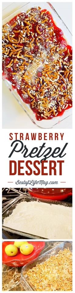 Strawberries take on a whole new meaning in this super easy strawberry pretzel dessert recipe that the whole family is sure to love!
