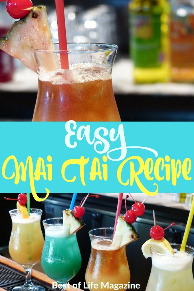 An easy Mai Tai recipe that reminds you of the beach and vacation is a must for every home and a guaranteed hit for happy hour. Mai Tai Recipe Hawaiian | Mai Tai Pitcher Recipe | Mai Tai Cocktail Recipes | Hawaiian Cocktail Recipe | Rum Drinks Recipes | Party Drinks | Drink Recipes with Rum | Easy Cocktails #maitai #cocktails via @amybarseghian