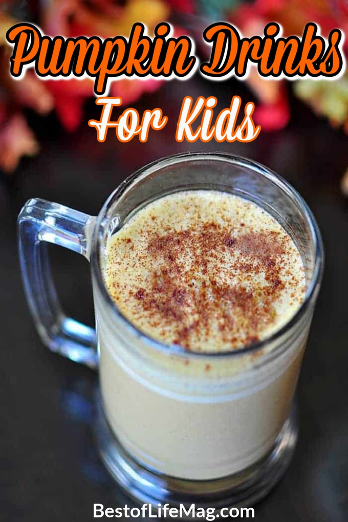 Pumpkin drinks for kids are perfect for fall and Halloween parties and kids love making them on their own! Pumpkin Latte for Kids | No Coffee Pumpkin Spice Latte | Fun Fall Drinks for Kids | Pumpkin Spice Drinks for Kids | Fall Recipes for Kids | Kid-Friendly Fall Recipes | Drink Recipes for Kids #pumpkin #kids via @amybarseghian