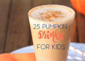 Pumpkin drinks for kids are perfect for fall and Halloween parties and kids love making them on their own! Fall Recipes   Halloween Drinks   Fall Recipes for Kids   Recipes for Kids   Pumpkin Recipes   Halloween Recipes   Things to do with Kids