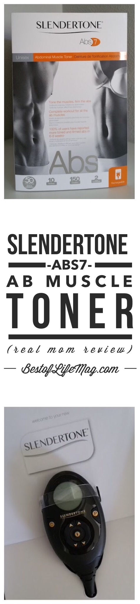 The Slendertone Abs7 Abdominal Muscle Toner is a unisex belt and perfect for both men and women within a variety of fitness levels. via @amybarseghian