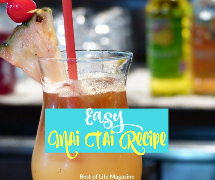 An easy Mai Tai recipe that reminds you of the beach and vacation is a must for every home and a guaranteed hit for happy hour.