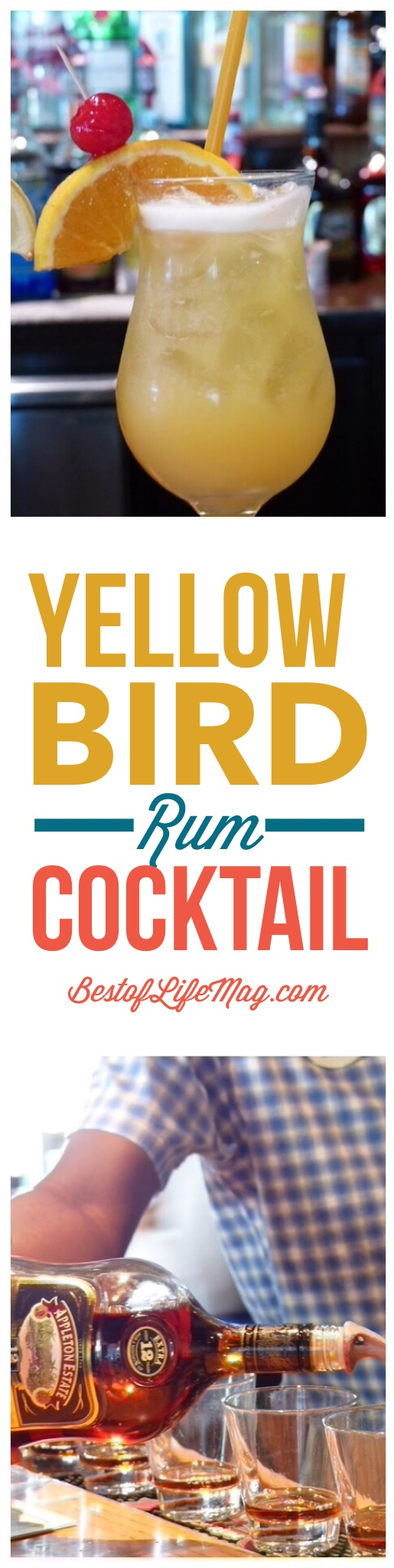 A yellow bird rum cocktail is tropical paradise in a glass that will take you away to the best beach vacation you have taken!