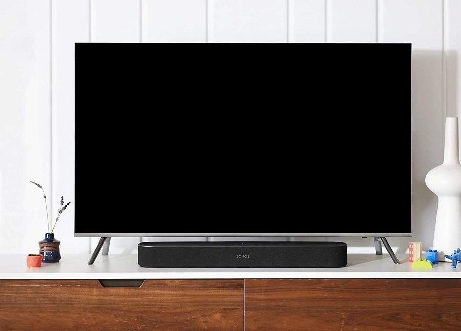 Best Gifts for Men Sonos Sound Bar in Front of a TV