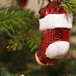 Stocking Stuffer Ideas Stocking Ornament Hanging on a Tree