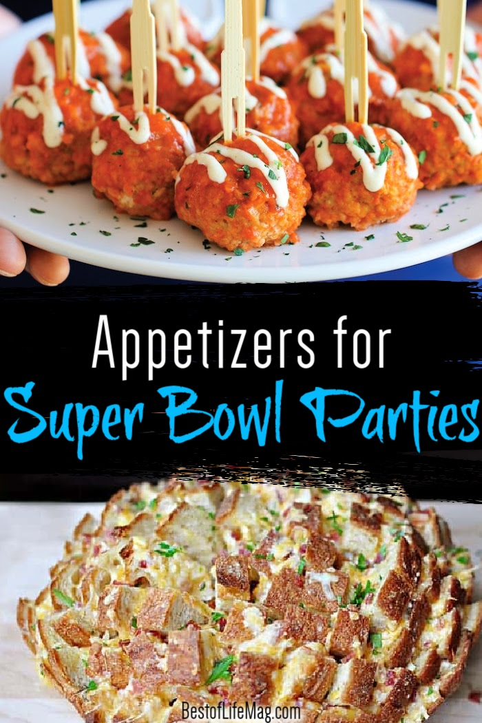 These game day Super Bowl appetizers are perfect for small to large groups and will help everyone enjoy the party regardless of who wins. Super Bowl Recipes | Recipes for Super Bowl Parties | Party Appetizer Recipes | Game Day Appetizers | Game Day Finger Foods | Game Day Recipes | Party Food Ideas #superbowl #appetizers via @amybarseghian