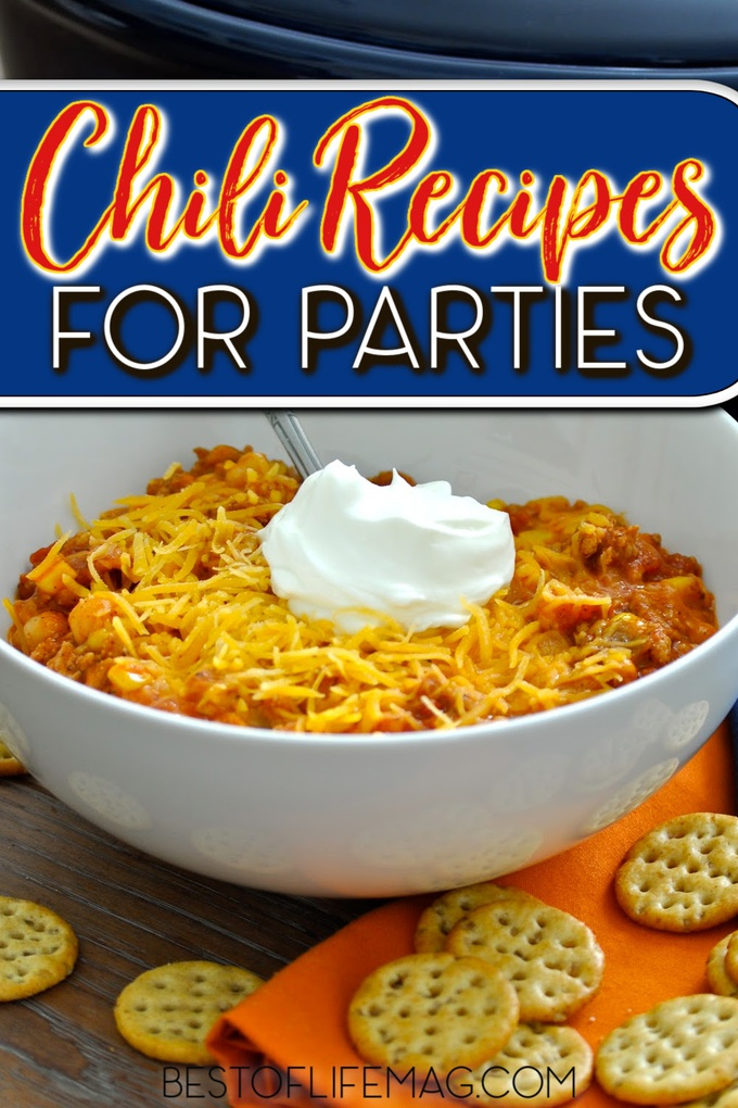 Your next party is going to be a hit when you use the right party recipes like chili recipes for parties that are easy to make and fun to eat. Chili Recipes for 40 Servings | Big Batch Chili Recipe | Chili for a Party | Award Winning Chili for a Crowd | Chili for a Crowd Real Simple | Chili for 200 | Party Chili Ideas #chili #partyrecipes via @amybarseghian