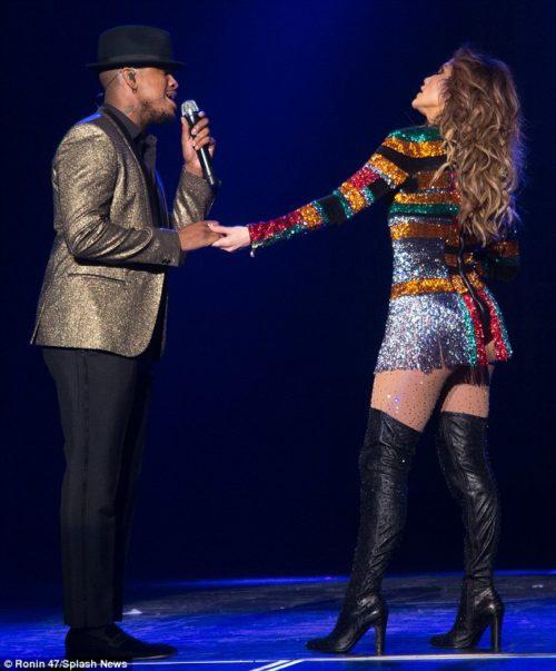 Neyo with Jennifer Lopez