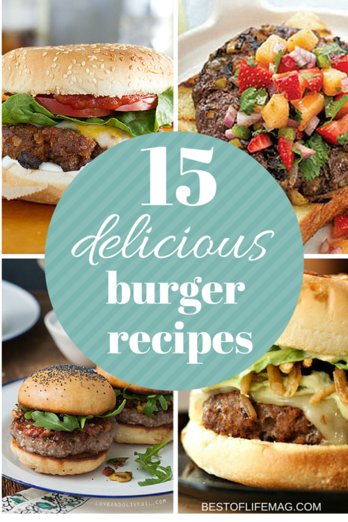 Super Bowl Food - 15 Delicious Burger Recipes