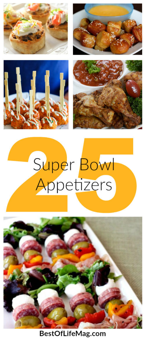 Super Bowl Food - 25 Super Bowl Appetizers