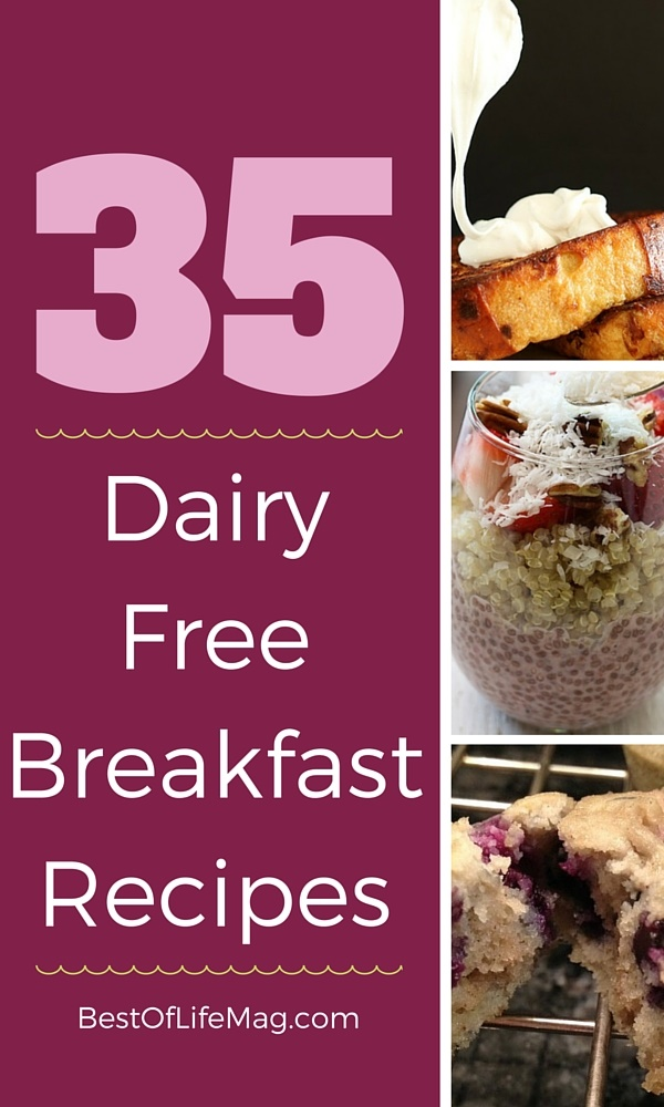 Living a dairy free lifestyle could seem like it limits your options, but there is a way to enjoy dairy free breakfast with these recipes. via @amybarseghian