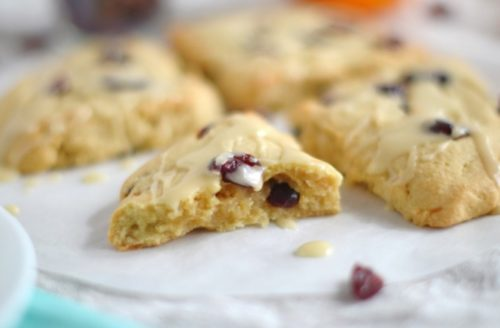 No Dairy Diet Cranberry Orange Scones