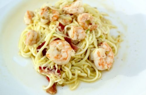 Dairy Free Lunch Paleo Noodles and Shrimp