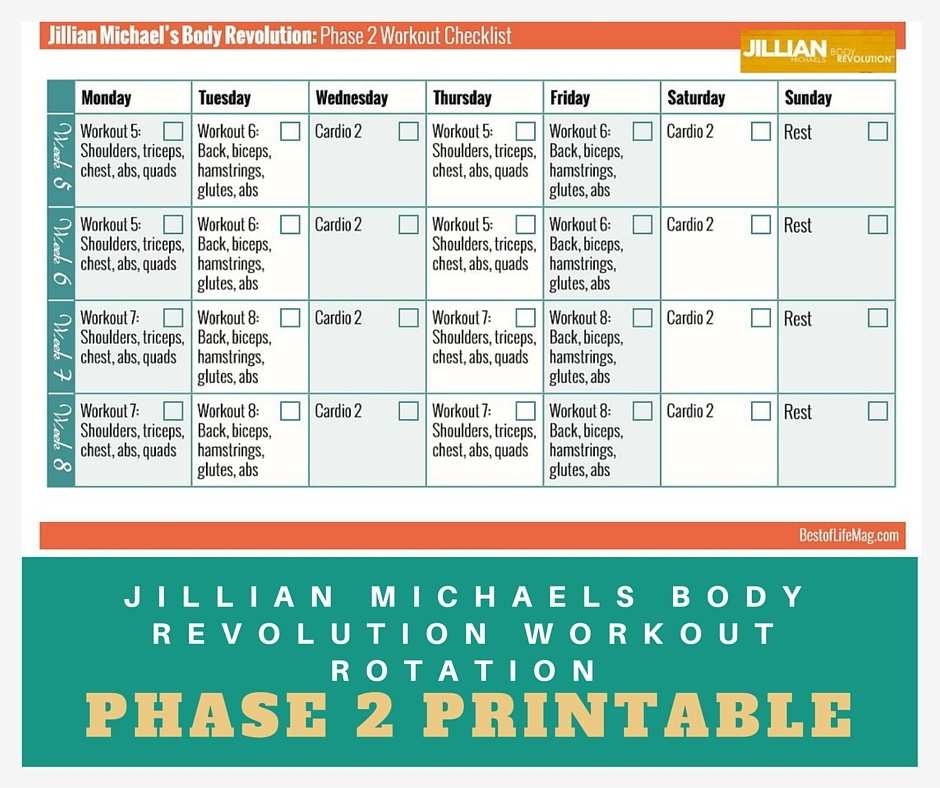 jillian michaels body revolution Jillian michaels body revolution contains compact, super-effective workouts that will completely overhaul your entire body in just 30 minutes a day, over the 90 day plan.