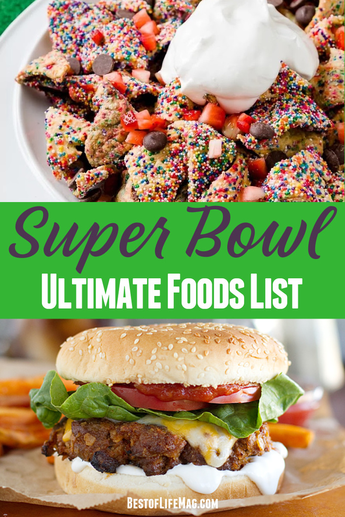 Your ultimate Super Bowl food list is here with over 165 recipes to choose from that are sure to make your Super Bowl Sunday the best yet. Super Bowl Party Food | Super Bowl Appetizers | Super Bowl Party Recipes | Tips for Hosting a Super Bowl Party | Super Bowl Party Food Crockpot | Game Day Recipes #superbowl #recipes