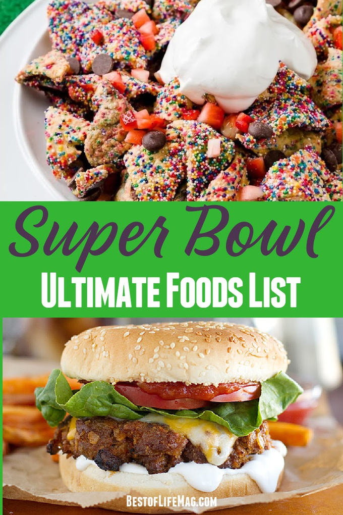 Your ultimate Super Bowl food list is here with over 165 recipes to choose from that are sure to make your Super Bowl Sunday the best yet. Super Bowl Party Food | Super Bowl Appetizers | Super Bowl Party Recipes | Tips for Hosting a Super Bowl Party | Super Bowl Party Food Crockpot | Game Day Recipes #superbowl #recipes via @amybarseghian