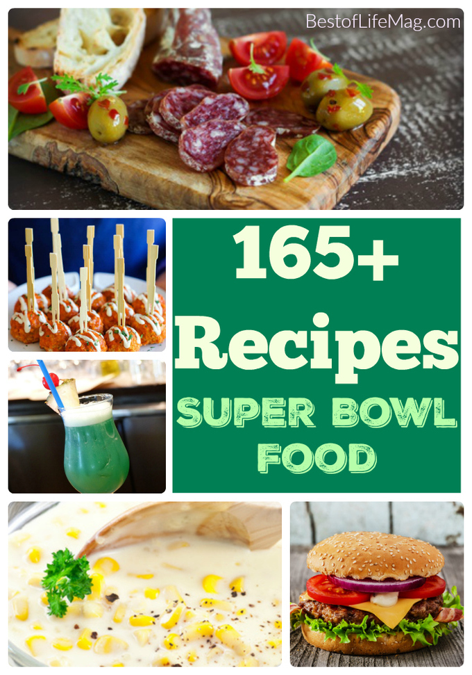 Your ultimate Super Bowl food list is here with over 165 recipes to choose from that are sure to make your Super Bowl Sunday the best yet.