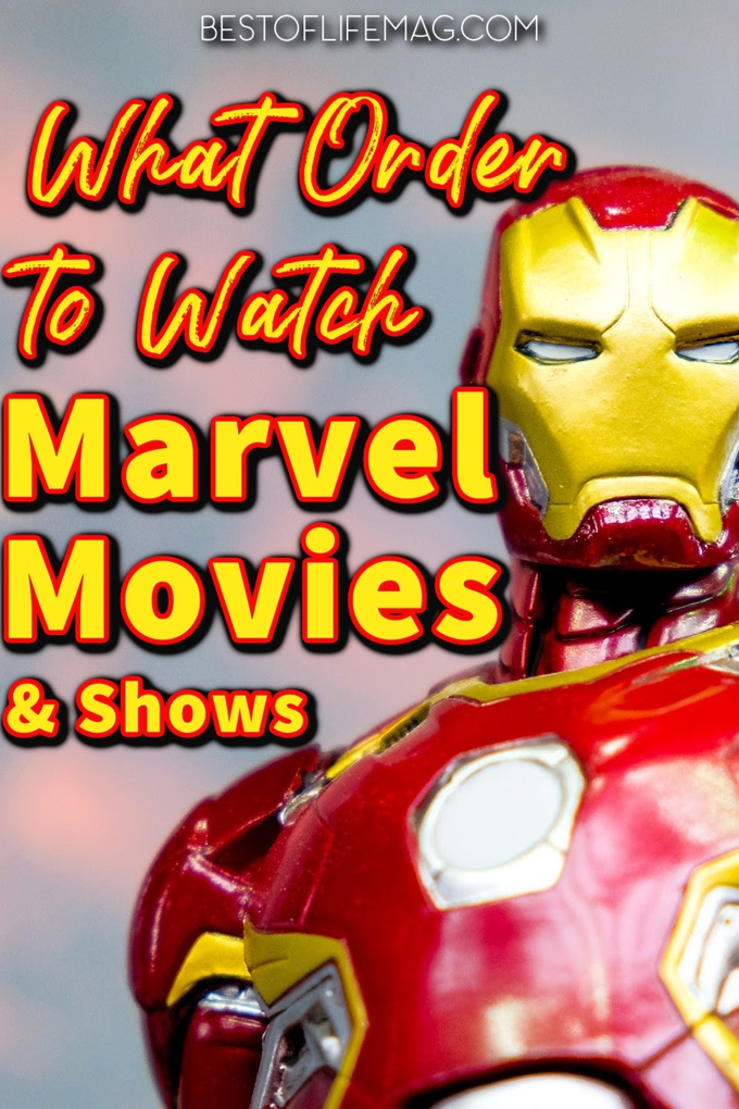 Ready to sit down and start watching the Marvel movies in order? When you want to know what order to watch the Marvel movies in, we have the list! Marvel Movies in Order | Marvel Movies in Order Chronological | Marvel Movies in Order to Watch | Marvel Movies List | Wandvision Review | Endgame Review | Marvel Movies on Disney Plus | Avengers Review | Spiderman Review | Marvel Shows to Watch | Marvel Movie Timeline #marvel #movies via @amybarseghian