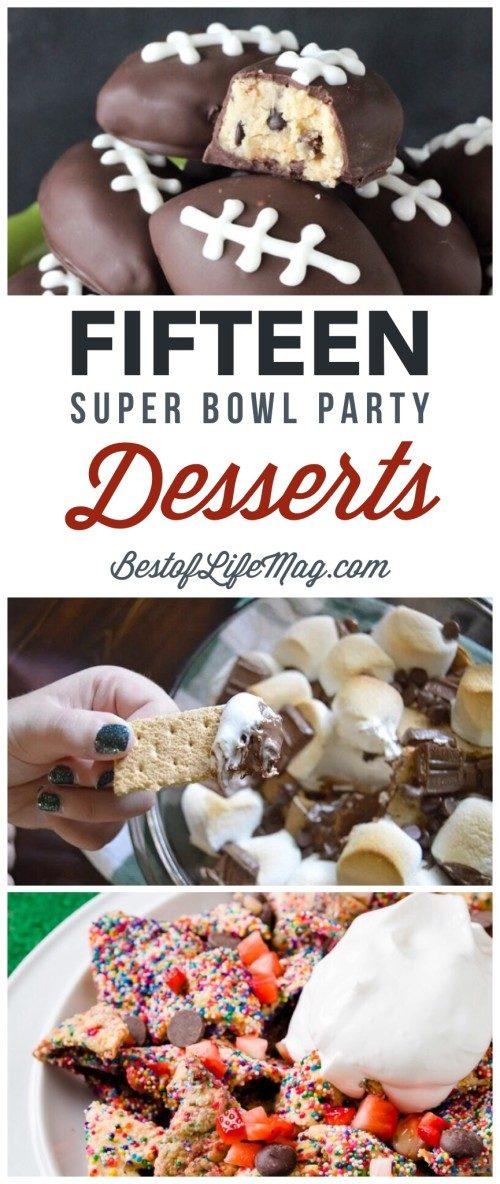 super bowl food party desserts