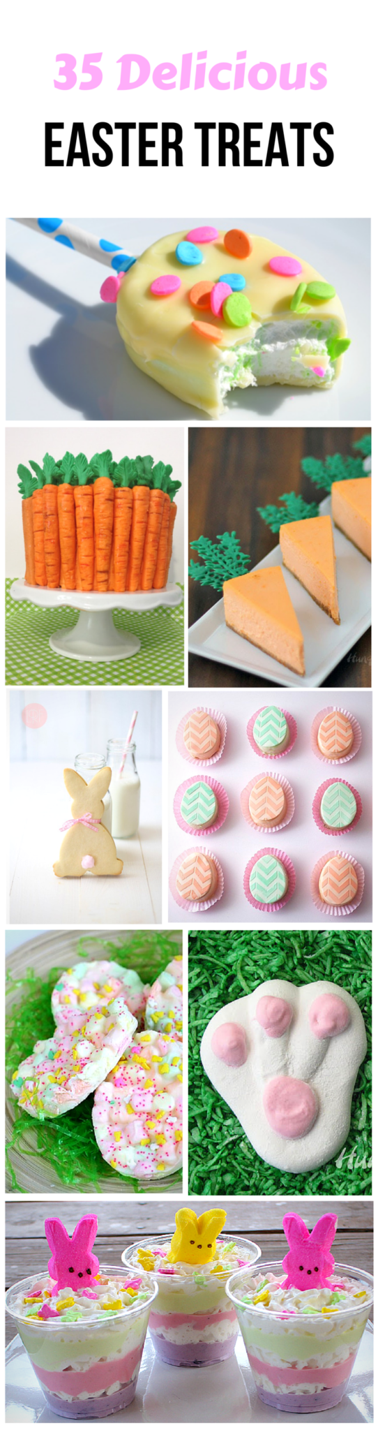 Easter Treats are delicious and make the holiday more fun!  Decorate your table with these brightly colored Easter treats for all ages. via @amybarseghian