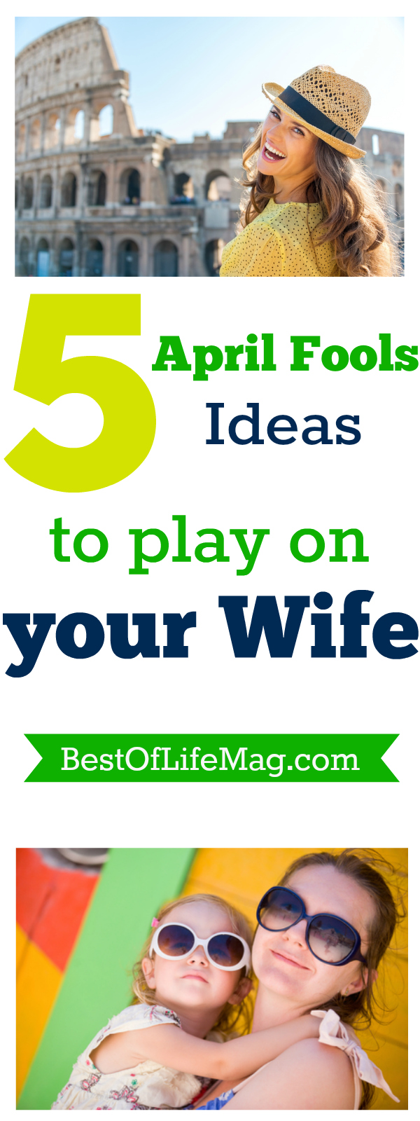 The love for your wife is still there, it's just a more playful love on this day. In order to make it go smoothly, you need to gather a few April fools ideas. via @amybarseghian