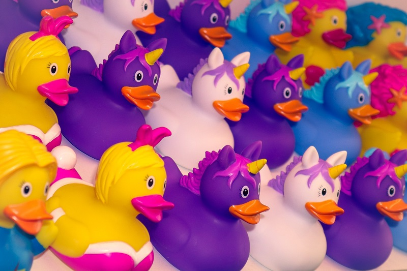 April Fools Jokes for Young Kids Assortment of Colorful Rubber Duckies
