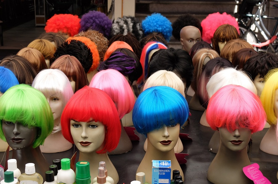 April Fools Jokes for Young Kids an Assortment of Wigs in Different Colors