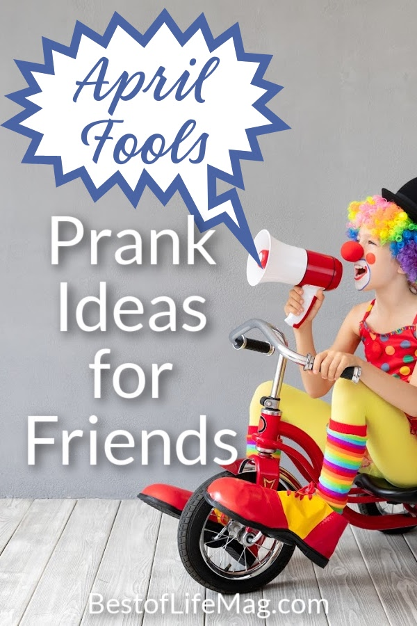 Have fun with these April Fools prank ideas when you play them on friends! They will appreciate the good laughs on this holiday! April Fools Pranks for Kids | Pranks for Adults | April Fools Day Ideas | April Fools Food | Pranks for Work | Jokes for Friends #aprilfoolsday #pranks via @amybarseghian