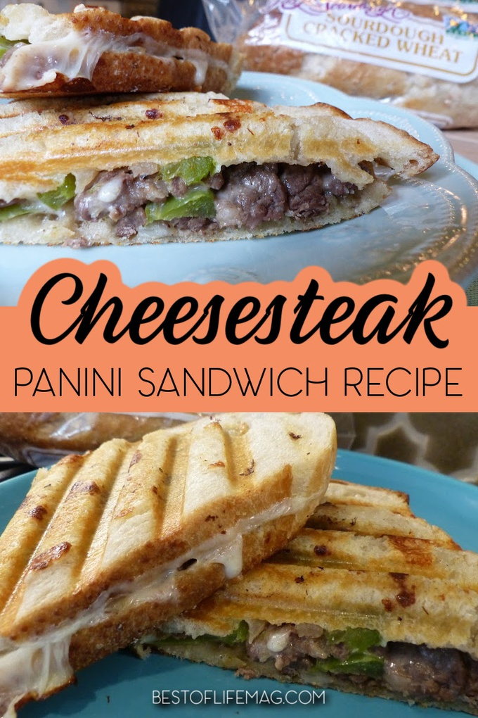 Paninis take sandwiches to new heights, but you can make it even better with this delicious cheesesteak panini recipe any day of the week. Philly Cheesesteak Panini Recipe | Cheesesteak Sandwich Recipe | Panini Sandwich with Steak | Sandwich Recipe for Lunch | Easy Dinner Recipes | Easy Lunch Recipes #cheesesteakrecipe #paninirecipe via @amybarseghian
