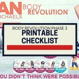 Body Revolution Phase 3 Printable Checklist