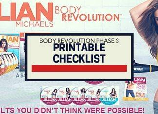 Body Revolution Phase 3 Printable Checklist